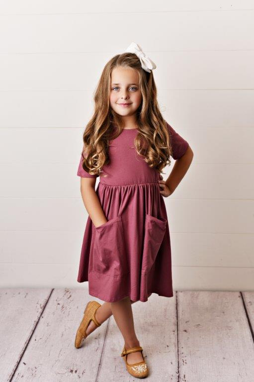 Mauve Twirl Dress