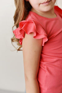 Watermelon Flutter Sleeve Tee
