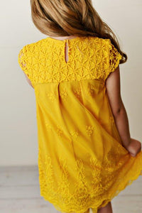 Lace Dress - Yellow