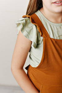 Flutter Sleeve Tee- Light Sage