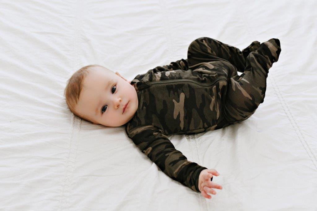 2 Way Zip Romper - Camo
