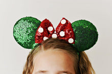 Load image into Gallery viewer, Green & Red Polka Dot Ear