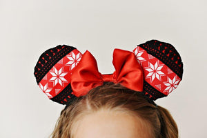 Red Snowflake Ears