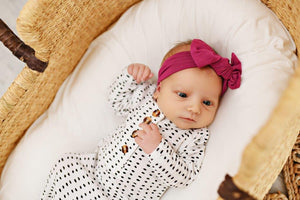 Knotted Baby Gown - Polka Dot