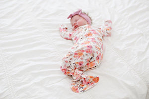 Knotted Baby Gown - Flower