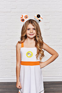 Orange Robot Dress