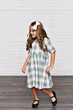 Load image into Gallery viewer, Sage Green Check Dress
