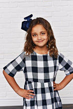 Load image into Gallery viewer, Navy Blue Check Dress