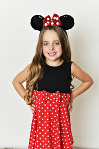 Final Sale - Girl Mouse (Red Bow) Dress