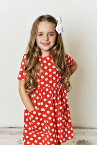 Red Polka Dot Twirl Dress