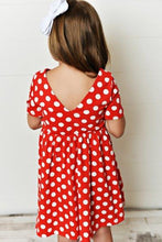 Load image into Gallery viewer, Red Polka Dot Twirl Dress