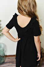 Load image into Gallery viewer, Black Ruffle Twirl Dress