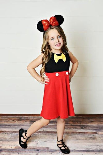 Boy Mouse (Yellow Bow) Dress