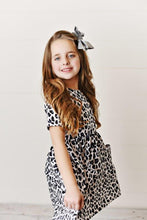 Load image into Gallery viewer, Snow Leopard Twirl Dress