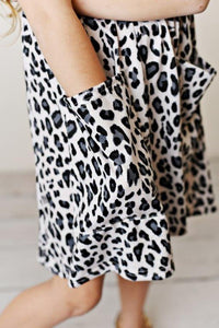 Snow Leopard Twirl Dress