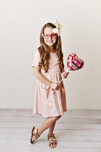 Pink Hearts Twirl Dress
