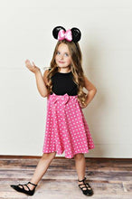 Load image into Gallery viewer, Pink Polka Dot Girl Mouse Dress