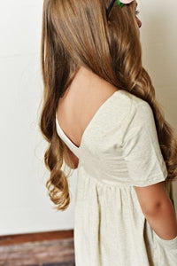 Gray/Beige Twirl Dress