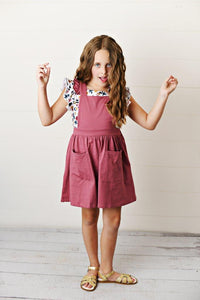 Softest Pinafore - Mauve