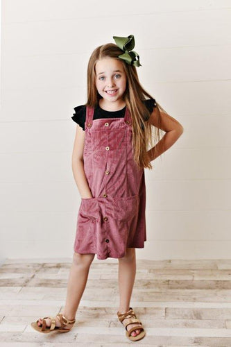 Mauve Corduroy Dress