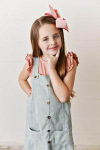 Chambray Corduroy Dress