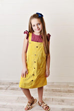 Load image into Gallery viewer, Yellow Corduroy Dress