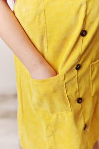 Yellow Corduroy Dress