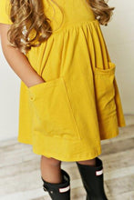 Load image into Gallery viewer, Mustard Twirl Dress