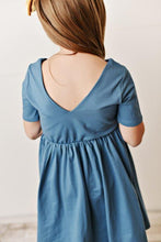 Load image into Gallery viewer, Ocean Blue Twirl Dress