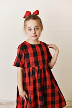 Load image into Gallery viewer, Red & Black Check Dress