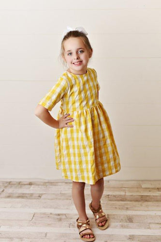 Saffron Check Dress