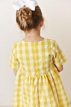 Load image into Gallery viewer, Yellow Check Dress