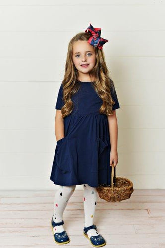 Dark Navy Twirl Dress