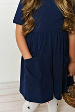 Load image into Gallery viewer, Dark Navy Twirl Dress