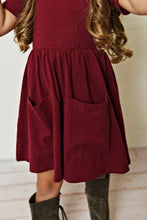 Load image into Gallery viewer, Maroon Twirl Dress