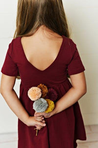 Maroon Twirl Dress
