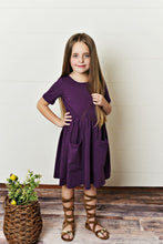 Load image into Gallery viewer, Plum Twirl Dress