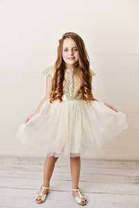 Gold - Sequin Twirl Dress