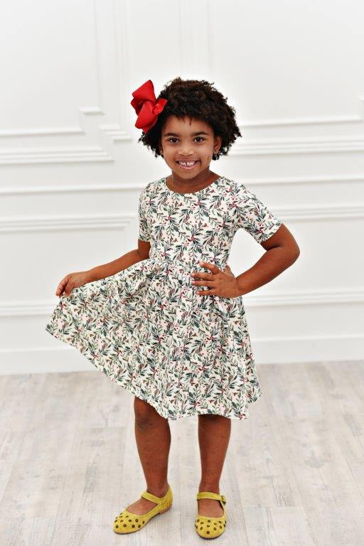 Holly Berry Twirl Dress