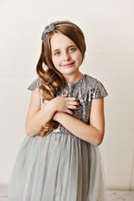 Load image into Gallery viewer, Gray - Sequin Twirl Dress