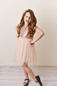 Pink - Sequin Twirl Dress