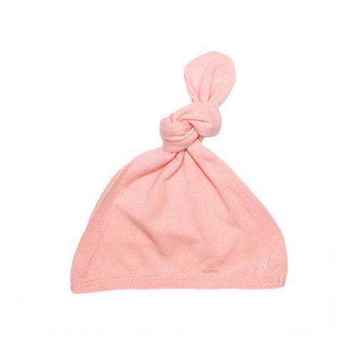 Top Knot Hat - Peach