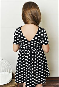 Black Polka Dot Twirl Dress