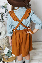 Load image into Gallery viewer, Ruffle Pinafore - Brown