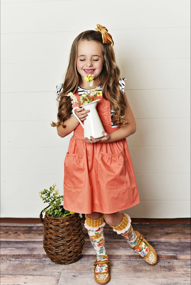 Scarlett Pinafore - Coral