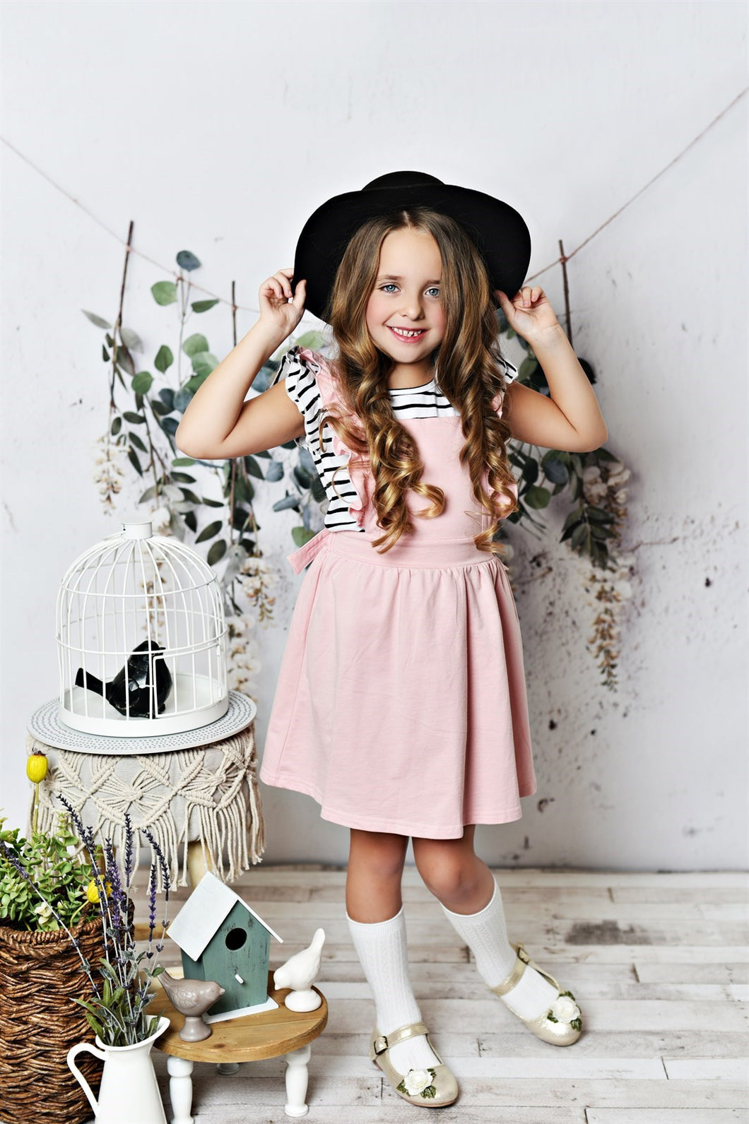 Softest Pinafore - Dusty Rose