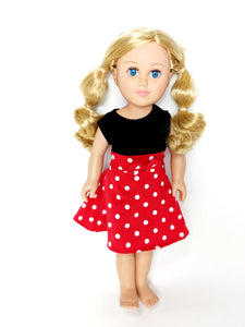 "18"" Doll - Girl Mouse Dress"
