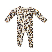 Load image into Gallery viewer, Ruffle 2 Way Zip Romper - Leopard