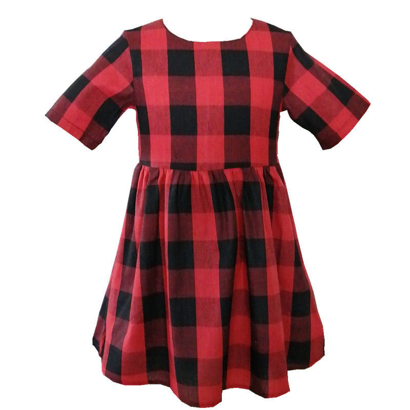 Red & Black Check Dress