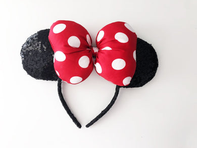 Puffy Red & Black Ears